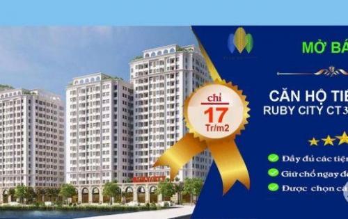 Bán chung cư giá rẻ Ruby City 3 Phúc Lợi, Tiện ích cao câp đầy đủ,lh: 0979049207
