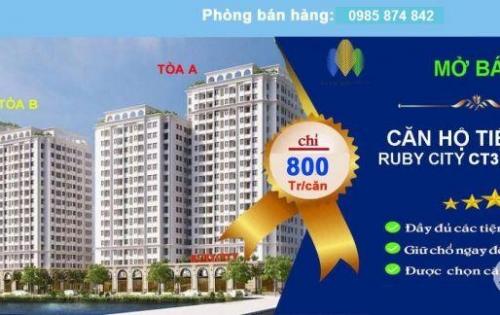 Bán căn hộ full nội thất Ruby City Ct3 Phúc Lợi chỉ 800/căn full nội thất