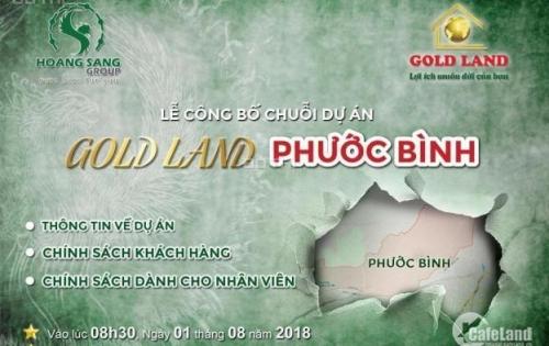 Sản phẩm Goldland, Phước Bình, Long Thành, Đồng Nai giá F0 chỉ 300 triệu/nền, chiết khấu 9.5%