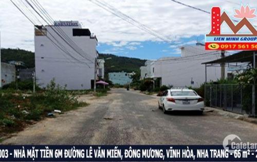 Bán nhà mặt tiền 6m đường Lê Văn Miến, Hòn Xện, Nha Trang