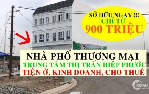 Chỉ cần 900 triệu sở hữu ngay nhà phố mặt tiền đường Tôn Đức Thắng