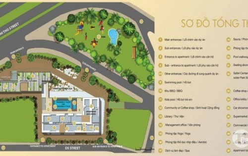 Office tel cao cấp Centana Thủ Thiêm rộng 61m2 2PN. Giá tốt nhất quận 2. LH 0902777521