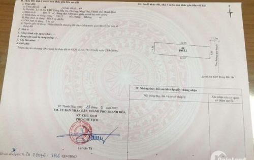 Chính chủ Cần bán nhà 4 tầng khu Đông Bắc Ga, P. Đông Thọ, TP Thanh Hóa