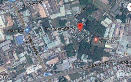 Mở bán lô đất mặt tiền của dự án Golden Town Bình Chuẩn, xã Thuận An, Bình Dương