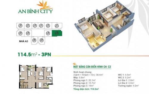 Gọi ngay 0986969293 để sở hữu ngay căn hộ 114m2 chung cư An Bình City.