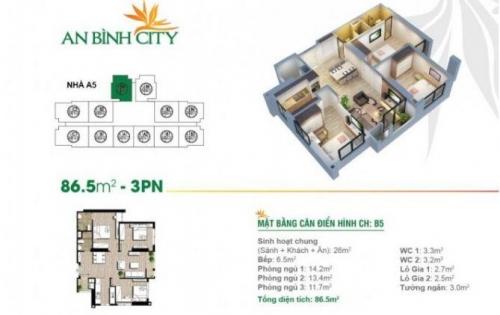 Hiện tôi đang có 2 căn 3 ngủ cần bán nhanh tại dự án An Bình City với giá tốt.