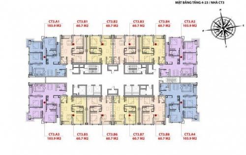Chính chủ cần bán gấp căn hộ chung cư 2 phòng ngủ trung tâm Mỹ Đình, giá 1,8 tỷ