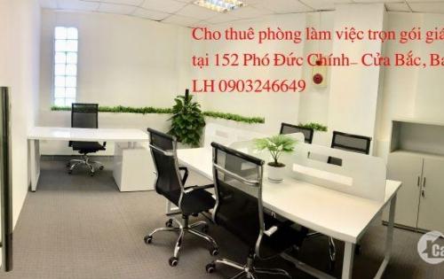 Cho thuê văn phòng trọn gói gần Ks Sofitel, 152 Phó Đức Chính, Ba Đình, giá 12 triệu/phòng 10 người