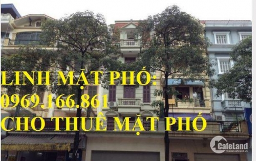 Cho thuê nhà mặt phố Trung Hòa DT 110m, 5 tầng, MT 6,3m Giá 80 triệu/ tháng. LH 0969.166.861