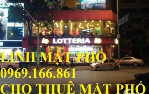Cho thuê nhà mặt phố Thái Hà( Lô Góc ) DT: 250m, 6 tầng, MT 15*10m, Giá 250 triệu/tháng.( có thương lượng).LH 0969.166.861