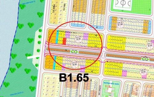 Bán cặp Đại Lộ Trung Lương B1.65 cạnh bến du thuyền, 2 bên nhà cửa đông đúc, đường 2 làn rộng 27m