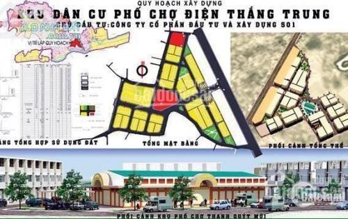 Cc bán gấp phố chợ Điện Thắng Trung, phù hợp các tiểu thương, dân cư sinh sống và đầu tư.
