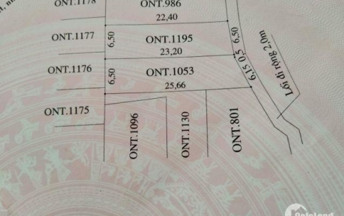 Cần bán đất chính chủ Cẩm Thanh, Hội An giá chỉ 10tr5/m2.
