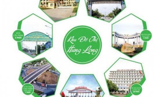 Đất nền giá rẻ duy nhất chỉ có tại KDT Hưng Long, giá chỉ 418 triệu /nền, Sổ Riêng