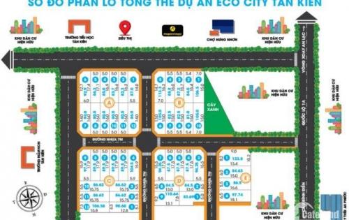 Eco city Tân Kiên, mt QL1A, ngay chợ Bờ Ngựa, 80m2, SHr, cc ngay