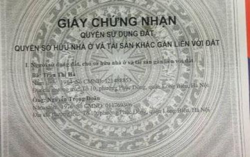Cần bán 100m2 đất oto đỗ cửa tại Phúc Lợi, Long Biên.