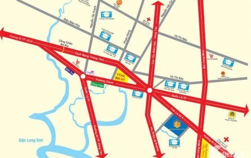 Bán đất Bà Rịa Vũng Tàu, gần trung tâm hành chính, sổ riêng, thổ cư 100%, xây dựng tự do, tiện kinh doanh, buôn bán hoặc xây phòng trọ cho thuê.