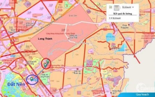 Đất sổ đỏ sân bay Long Thành thổ cư 100% liền kề QL 51
