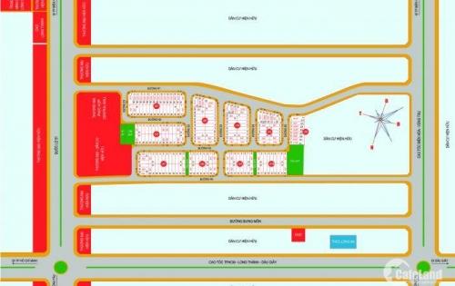 Mở bán đất nền chợ mới Long Thành mặt tiền QL51 giá 570 triệu/ 1nền/30%.