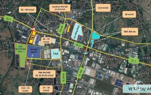 Bán gấp đất nền tại dự án T&T, TT Bần huyện Mỹ hào, Hưng yên