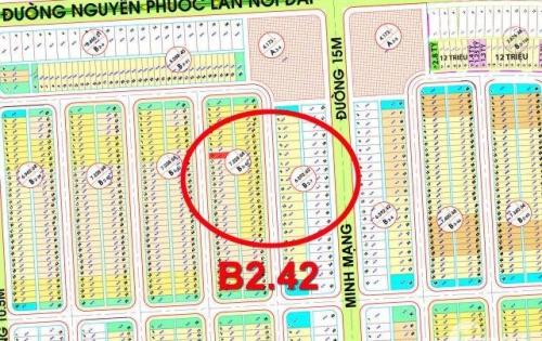 Bán đất Nam Hòa Xuân điện âm tay phải B2.42 song song với trục Shophouse Minh Mạng, hướng tây bắc