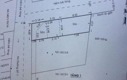 Bán lô góc chính chủ 2 MT, nở hậu, dt 60m2. Bình Tân