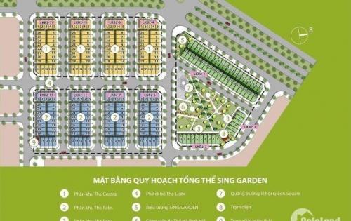 Đất nền phố đi bộ dự án Sing Garden Vsip BN, DT 75-105m2, Giá 16.5tr/m2, Vị trí đẹp