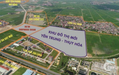 Mở bán 100 lô đất nền KĐT mới Yên Trung - Thụy Hòa giá từ 12,3 - 16tr/m2