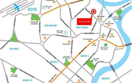 Richmond căn hộ 52m2 tầng thấp view công viên hồ bơi, 1PN+WC Nguyễn Xí, Bình Thạnh