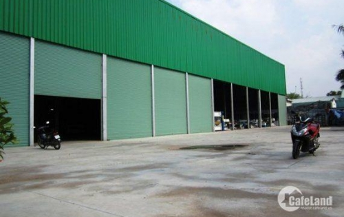 Cần bán gấp đất + nhà xưởng mặt tiền đường gần Quốc Lộ 1A,Bình Chánh.