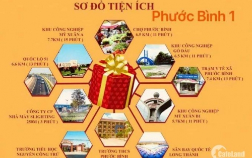 Đất nền thổ cư, giá đầu tư, Phước Bình, Long Thành, Đồng Nai
