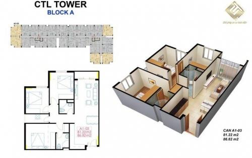 Mở bán đợt 2 những căn hộ cao cấp CTL tower  giá ưu đãi chỉ 20tr/m2