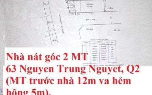 Bán NHà Nát góc 2 mặt tiền quận 2 tp Hồ Chí Minh