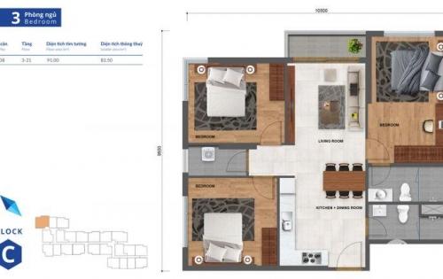 Bán căn hộ Centana Thủ Thiêm, 2PN, tầng cao, view đẹp, giá chỉ 2,450 tỷ đã có VAT.