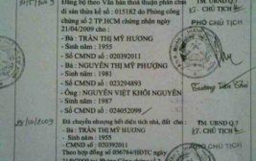 Nhà 5,3x30 MT đường Trần Xuân Soạn, p. Tân Thuận Tây, Q7