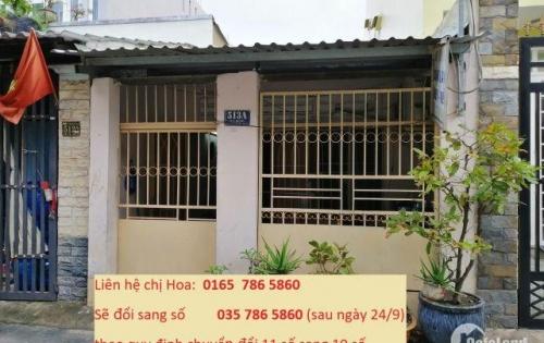 Bán nhà 1 lầu hẻm 52 Nguyễn Thị Thập phường Bình Thuận Quận 7