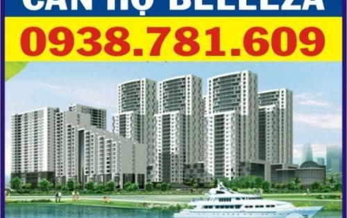 Bán căn hộ Belleza, DT: 127m2, 3PN, NTĐĐ. Chỉ với 2.2 tỷ nhận nhà ở ngay, LH: 0938781609