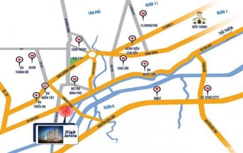 Bán căn hộ cao cấp mặt tiền đường Quận 8 kết nối giao thông thuận lợi