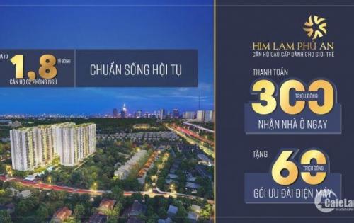 Cần bán căn hộ Him Lam Phú An Giá 1,8 tỷ/căn 69m2, 2 Phòng Ngủ. Lh 0938940111 Him Lam.