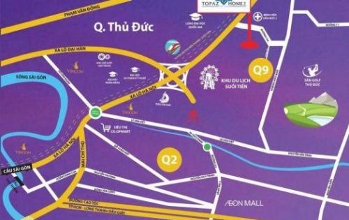 Shophouse duplex giá chỉ 31tr/m2 sau lưng khu du lịch Suối Tiên quận 9