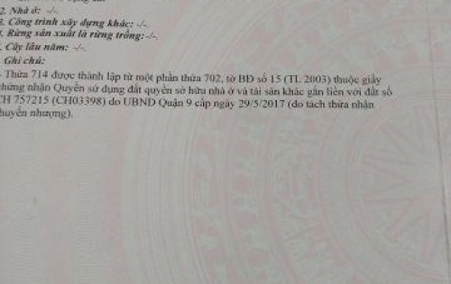 Chính chủ cần bán đất MT Tân Phú, quan 9 DT 128 m2