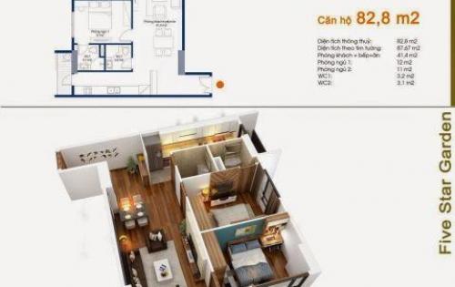 Bán căn 06, 2PN Tòa G2, Chung cư Five Star Kim Giang