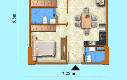 Suất nội bộ chung cư Sơn Thịnh 3, căn hộ 71m2, giá chỉ 14.5tr/m2, bao 2% phí bảo trì. LH 0907-370-843