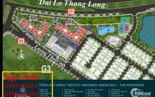 Cho thuê Ki ốt tầng 1 chung cư Vinhomes Green Bay Mễ Trì mặt tiền Lương Thế Vinh.