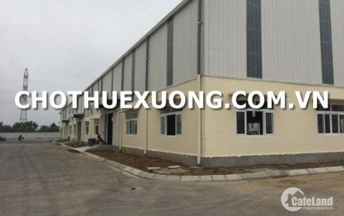 Cho thuê kho xưởng mới xây tại Thái bình trong Cụm CN Phong Phú DT 1010m2 giá rẻ
