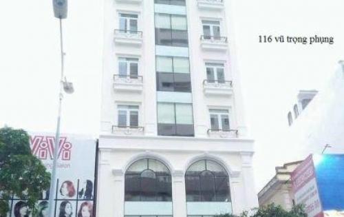Chính chủ cần cho thuê mặt bằng kinh doanh tầng 1 tòa nhà 116 vũ trọng phụng –thanh xuân 120m2 sàn thông mặt tiền 9m.