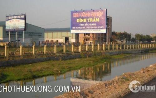 Cho thuê nhà xưởng tiêu chuẩn tại KCN Đình Trám Bắc Giang DT 4520m2 giá tốt