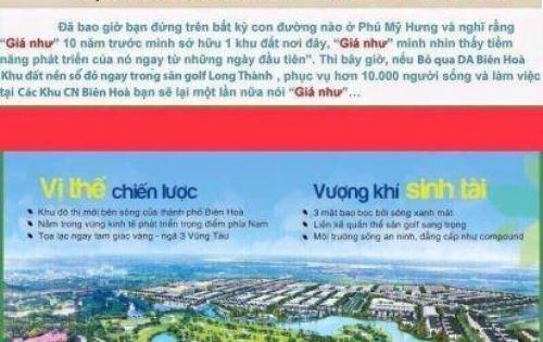 Đất nền Biên Hoà New City - Hưng Thịnh . 1ty1/nền LH 0933655811