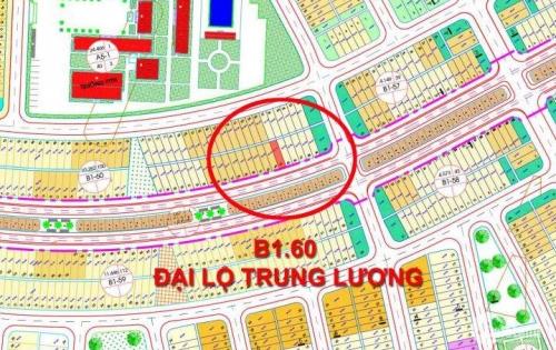 Bán đất mặt tiền Đại Lộ Trung Lương B1.60 2 làn đường rộng, có lối đi bộ, gần trung tâm thương mại