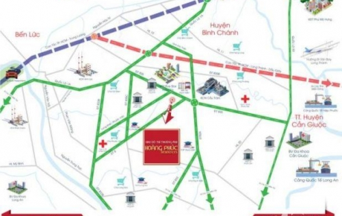 Nếu từ phía Tây Sài Gòn ( Quận 5,6, Bình Tân ) Chúng ta di chuyển theo hướng Võ Văn Kiệt và Quốc Lộ 1A đến đường Đinh Đức Thiện => đất nền Hoàng Phúc Residence.